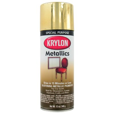 Krylon 12 Oz Brass Metallic Spray Paint