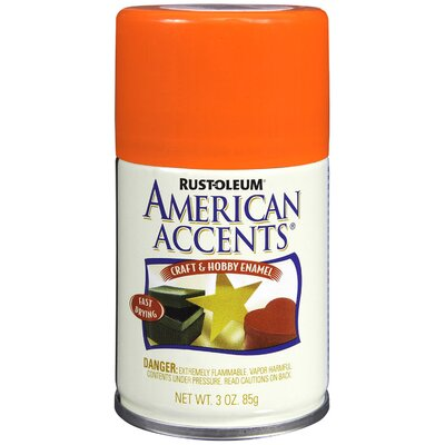 AmericanAccents 3 Oz Glow Orange Craft & Hobby Spray Enamel 209680
