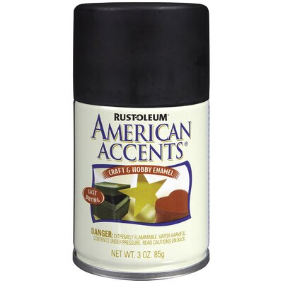 AmericanAccents 3 Oz Canyon Black Satin Craft & Hobby Spray Enamel 209686
