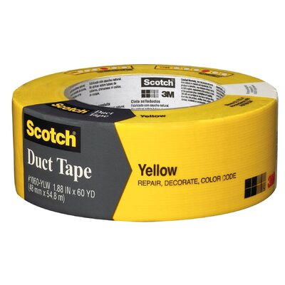 "3M 1.88"" x 60 Yards Scotch Duct Tape in Yellow"