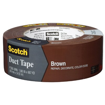 "3M 1.88"" x 60 Yards Scotch Duct Tape in Brown"