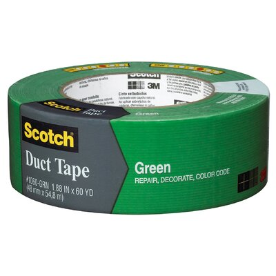 "3M 1.88"" x 60 Yards Scotch Duct Tape Green"
