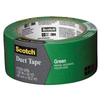 "3M 1.88"" x 20 Yards Green Duct Tape"