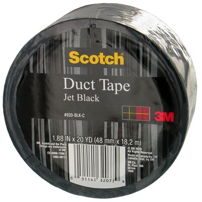 3M 20 Yards Jet Black Duct Tape