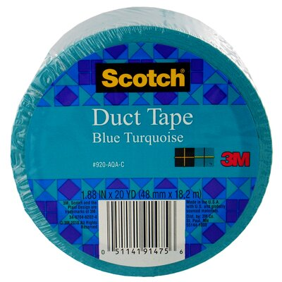 3M 20 Yards Blue Turquoise Colored Duct Tape