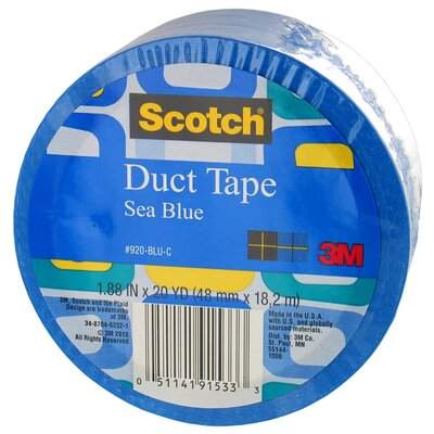 3M 20 Yards Sea Blue Duct Tape
