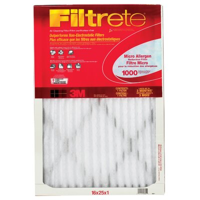 3M Filtrete Micro Allergen Reduction Air Filter