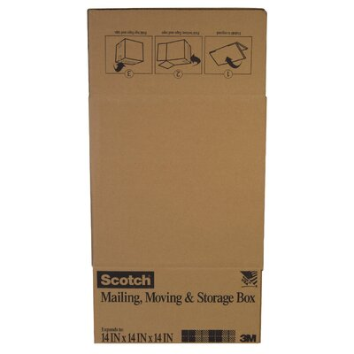 "3M 14"" x 14"" x 14"" Scotch Shipping Box"