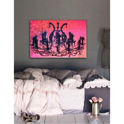 "One Bella Casa ""Diamond Burst"" Graphic Art on Canvas"