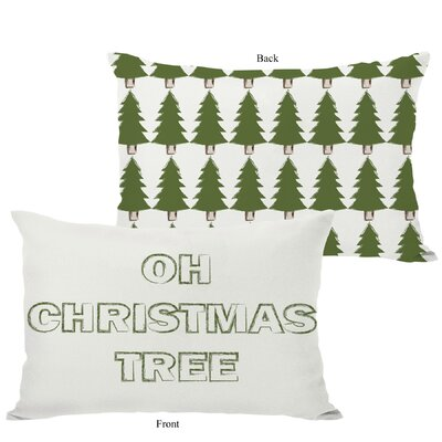 OneBellaCasa.com Holiday Oh Christmas Tree Reversible Pillow