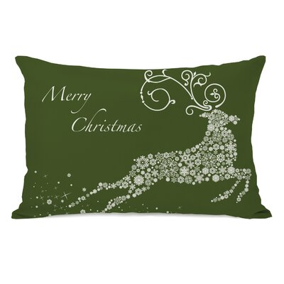 OneBellaCasa.com Holiday Snowflake Reindeer Pillow