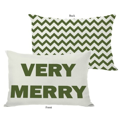 OneBellaCasa.com Holiday Very Merry Reversible Pillow
