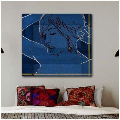 One Bella Casa ''Got the Blues'' Graphic Art on Canvas