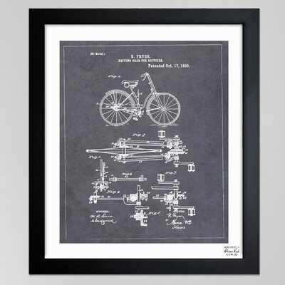 One Bella Casa ''Fryer, Driving Gear for Bicycle, 893'' Framed Graphic Art