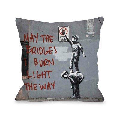 One Bella Casa Crime Burn Bridges Pillow
