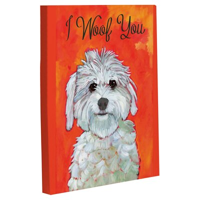 OneBellaCasa.com Doggy Decor I Woof You Graphic Art on Canvas