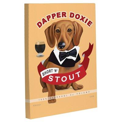 One Bella Casa Doggy Decor Dapper Doxie Graphic Art on Canvas