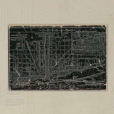 """One Bella Casa """"Chicago Railroad"""" Graphic Art on Canvas"""