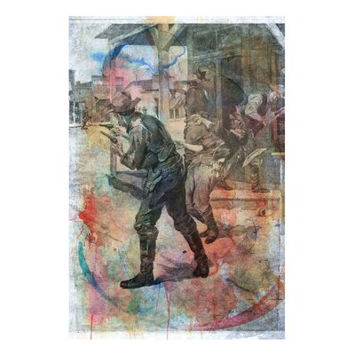 One Bella Casa ''Coffeyville Bank Robbery'' Graphic Art on Canvas