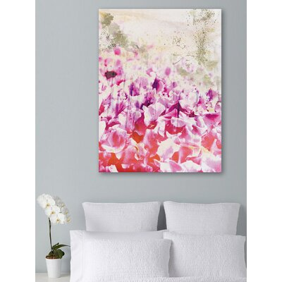 One Bella Casa ''Gold Spring'' Graphic Art on Canvas