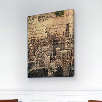"""One Bella Casa """"Chicago Skyline"""" Graphic Art on Canvas"""