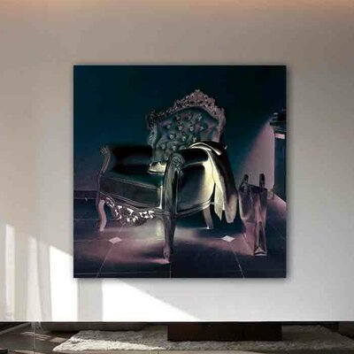 """One Bella Casa """"Champagne Leather"""" Graphic Art on Canvas"""