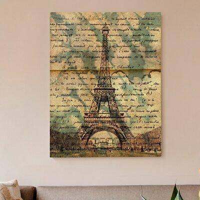 "One Bella Casa ""Eiffel Words"" Graphic Art on Canvas"