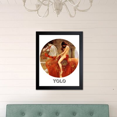 One Bella Casa ''Yolo''Framed Graphic Art