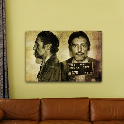One Bella Casa ''Dennis Hopper Mugshot'' Graphic Art on Canvas