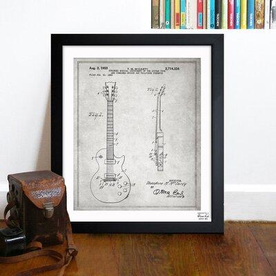 One Bella Casa Gibson Les Paul Guitar 1955 Framed Graphic Art