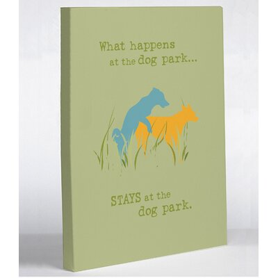 OneBellaCasa.com Dog Park Canvas Wall Decor