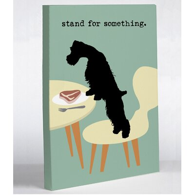 OneBellaCasa.com Stand For Something Dog Canvas Wall Decor