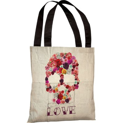 OneBellaCasa.com Oliver Gal Bed of Roses Tote Bag