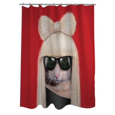 OneBellaCasa.com Pets Rock GG Polyester Shower Curtain
