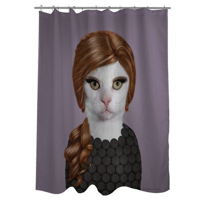 OneBellaCasa.com Pets Rock Songbird Polyester Shower Curtain