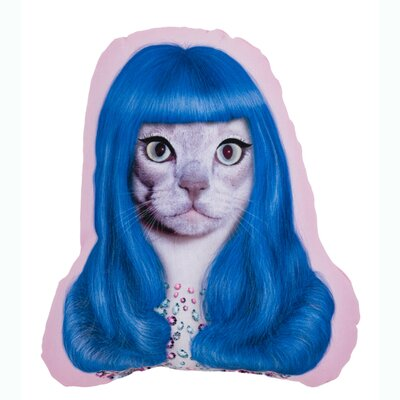 OneBellaCasa.com Pets Rock Gurl Shaped Pillow