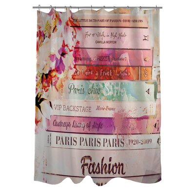 OneBellaCasa.com Oliver Gal Romantica Polyester Shower Curtain