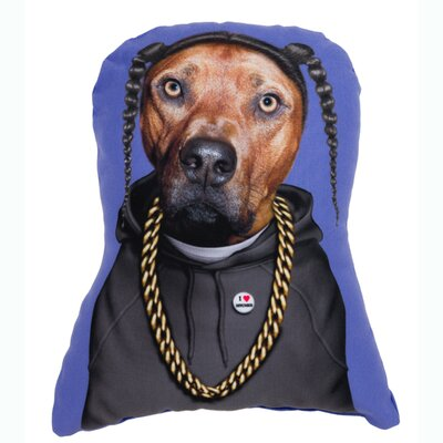 OneBellaCasa.com Pets Rock Rap Shaped Pillow