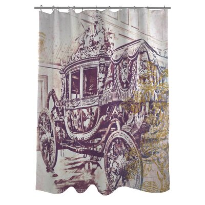 OneBellaCasa.com Oliver Gal Charles X Polyester Shower Curtain