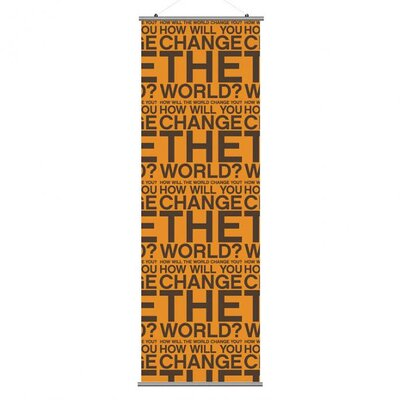 Inhabit Slat Change the World Wall Hanging