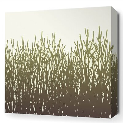 Madera Field Grass Stretched Graphic Art on Canvas