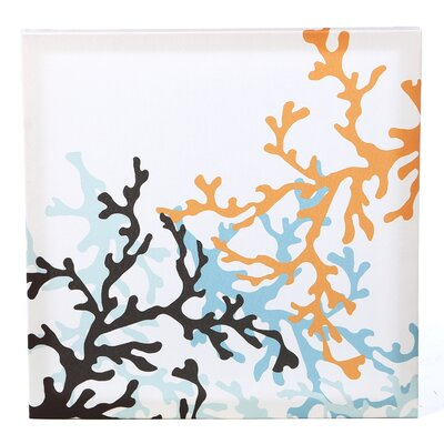 Inhabit Spa Coral Stretched Graphic Art on Canvas