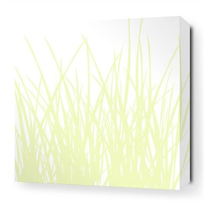 Soak Grass Stretched Graphic Art on Canvas
