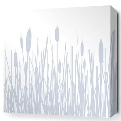 Inhabit Estrella Cattails Stretched Graphic Art on Canvas
