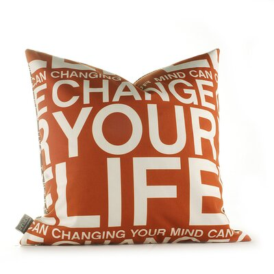 Inhabit Change Your Life Pillow in Rust