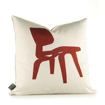Inhabit Modern Classics Pillow in Scarlet and Soy