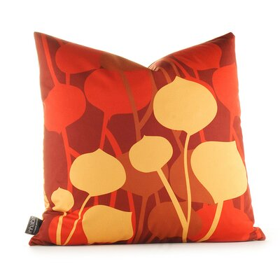 Inhabit Aequorea Seedling Graphic Pillow in Scarlet
