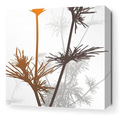 Morning Glory Prairie Stretched Graphic Art on Canvas in Rust and Charcoal