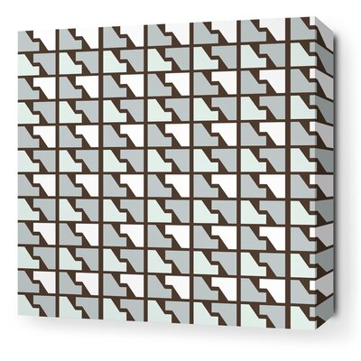 Estrella Faux Houndstooth Stretched Graphic Art on Canvas in Cornflower