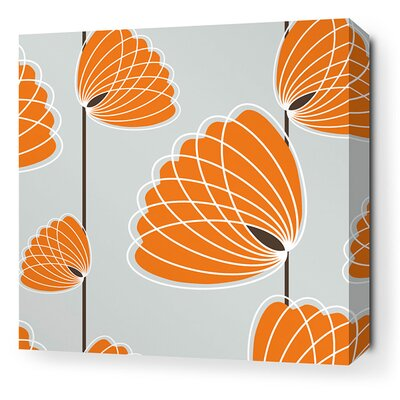 Aequorea Lotus Graphic Art on Canvas in Silver and Sunshine